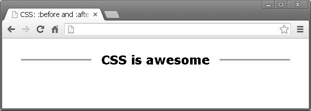 CSS: :before and :after pseudo elements in practice