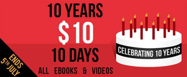 Packt Publishing celebrates 10 years with a special $10 offer